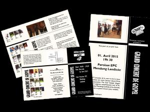 Flyer Grand Concert de Gospel